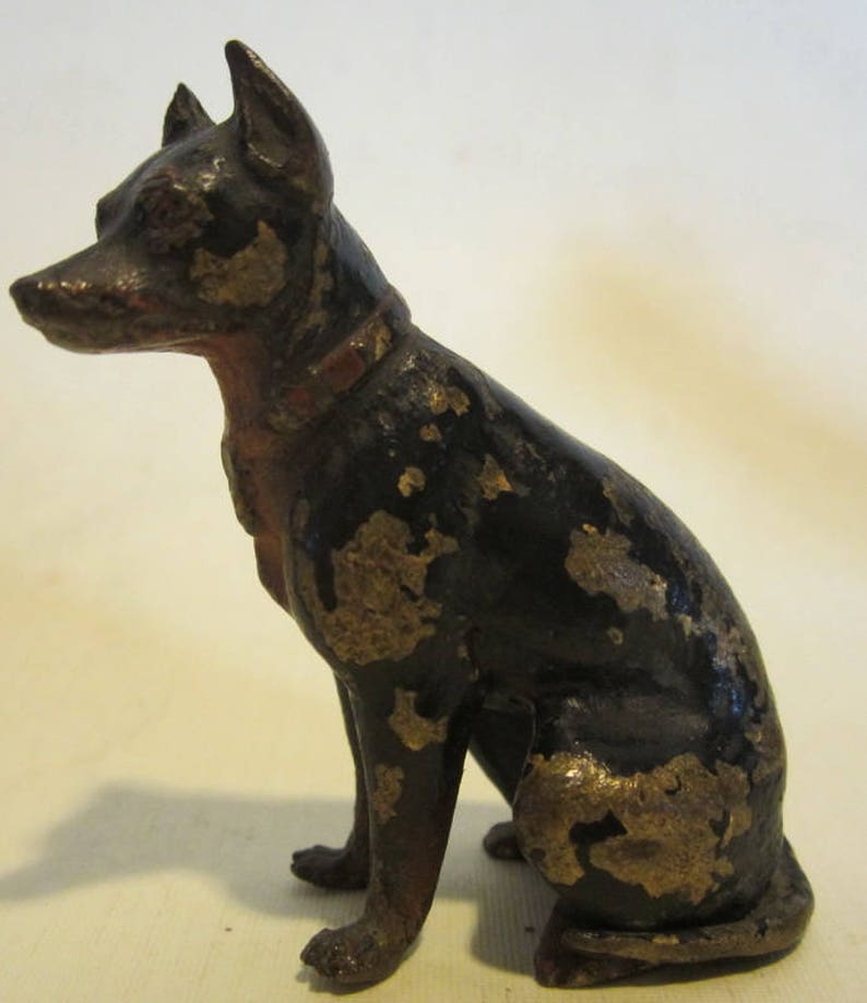 Figur Dobermann Rasse Bronze Metallobjekte Bronze