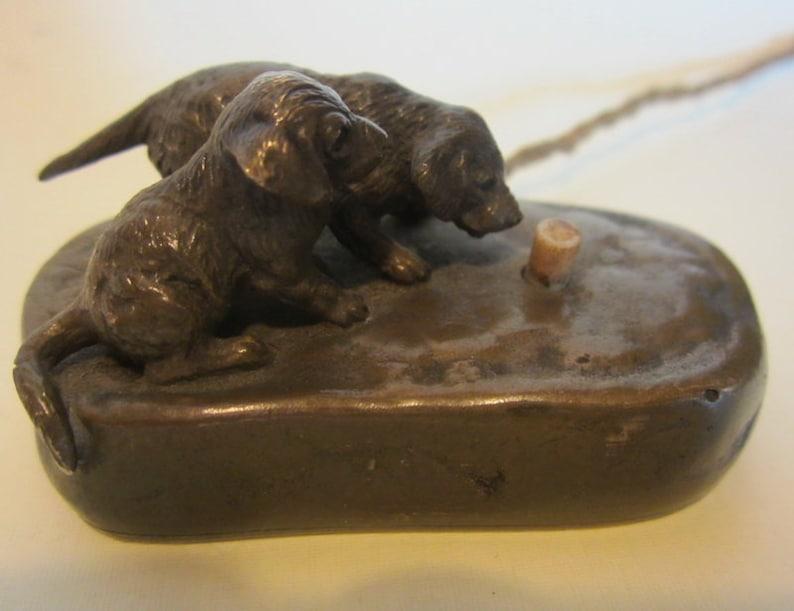 Antieke Bronzen Bel.Antieke Bronzen Vienna Licht Of Bel Knop Wiener Brons Schattige Hond Met Puppy In De Mand Dienstknecht Bell Of Voor Lichte Koord Ca 1930