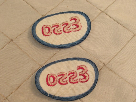 3 LOT ESSO GAS//OIL Embroidered Iron Or Sewn On Patches Free Ship