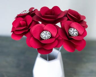 Paper Flowers Online Florist Wedding Von Bellalunasflowers