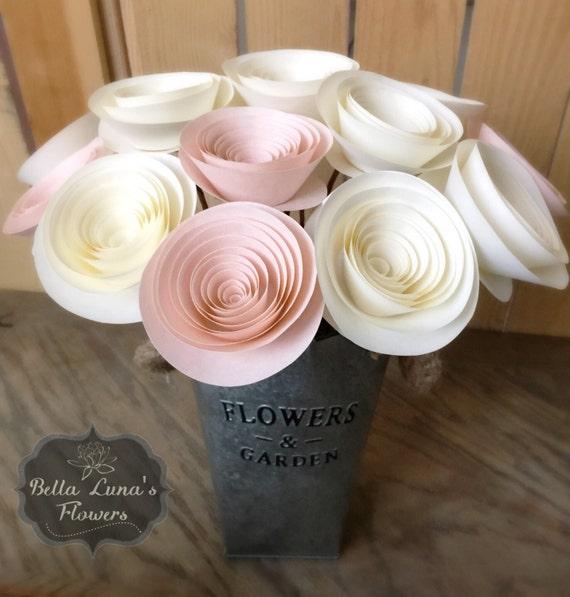 Stemmed Paper Flowers Table Centerpieces Flower Centerpiece