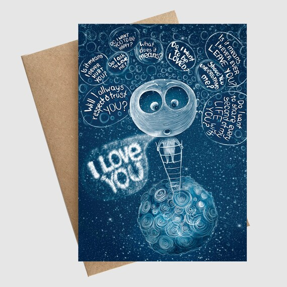 I love you greeting card love anniversary valentines card etsy image 0 m4hsunfo