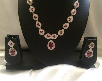 Ruby Nizam Gulubandh Necklace,Indian Wedding Jewelry,Statement Jewelry,Statement Necklace, Red Choker, Ruby Necklace, Bridal Necklace