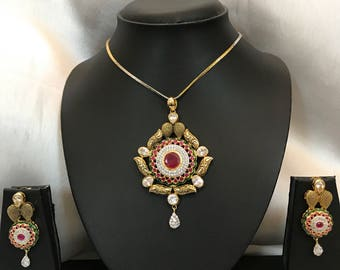 Jadau Necklace, indian Necklace, Indian Bridal Jewelry, Indian Jewellery, indian wedding jewellery, kundan jewelry, meenakari Necklace