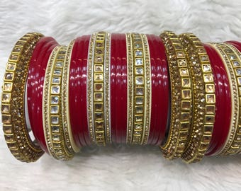 Bridal Bangles, gold bangles, red bangles, indian bangles, pakistani bangles, indian jewelry, pakistani jewelry, indian wedding jewelry