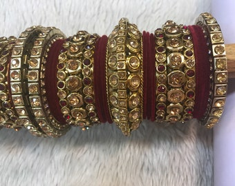 Bangles, gold bangles, red bridal bangles, indian bangles, pakistani bangles, indian jewelry, pakistani jewelry, indian wedding jewelry