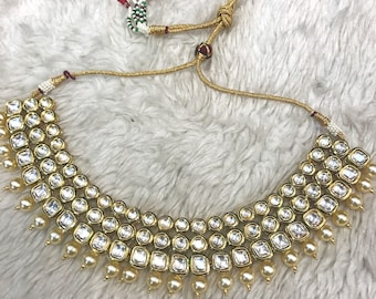 Indian necklace | Wedding Jewelry | White Indian Jewelry | Desi Jewelry | Indian Bridal Jewelry | Kundan Jewelry | Indian Wedding Jewelry |