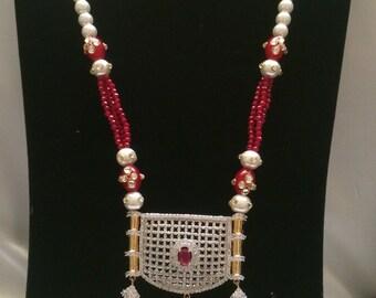 Ruby Gulubandh Necklace,Indian Wedding Jewelry,Statement Jewelry,Statement Necklace, Ruby Necklace, Ruby Earrings, Ruby Set, Indian Bridal