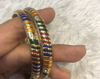 Meenakari Bangles, gold bangles, indian bangles, pakistani bangles, indian jewelry, pakistani jewelry, indian wedding jewel