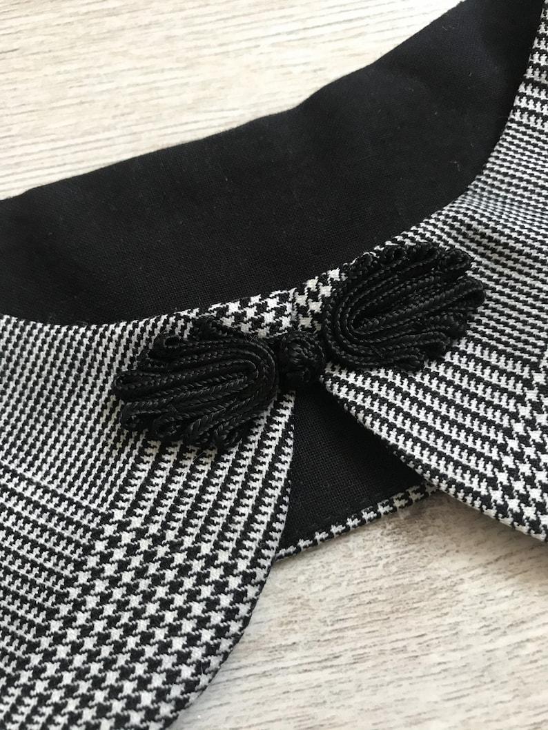 elegant accessory Checked collar sparrow and detachable collar