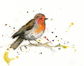 5cad520c98138 Watercolour Painting - Robin Painting - Bird Painting - Watercolour Print -  Robin Print - Bird Print - Robin Home Decor - Art Print