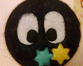Soot Sprite Embroidery Hoop