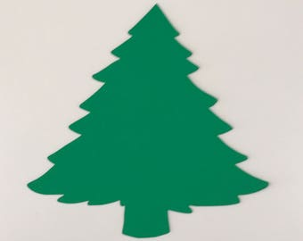 Large Blank Christmas Tree Cutouts Die Cut DIY