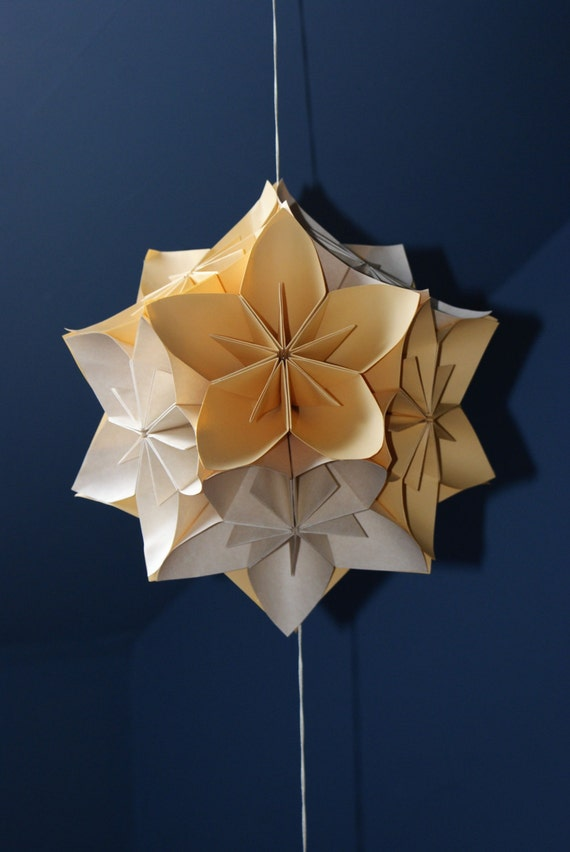 Made to order huge origami kusudama flower ball hanging etsy image 0 mightylinksfo
