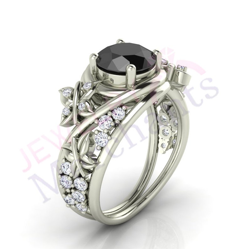Forme Ronde Rond Diamant Argent Sterling 14K Or Blanc Finition fantaisie Toe Ring
