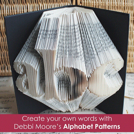 Lower Case Debbi Moore Book Folding Pattern Book Alphabet Font Set 1A