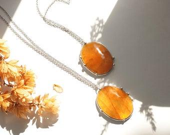 Yellow quartz pendants gemstone jewelry natural stone jewelry real quartz necklaces sunny pendants