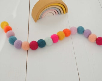 Colorful garland for birthday, baby shower
