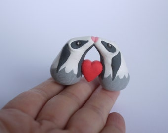 Valentine's Day Badgers and Heart