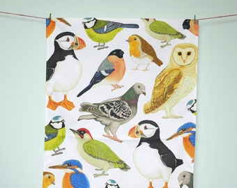 British Bird Tea Towel