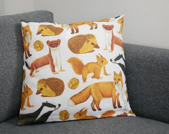 British Mammal Cushion Cover
