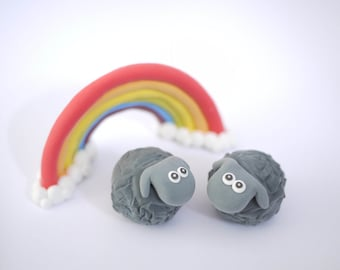 Black Sheep Wedding Cake Topper (With or Without Rainbow)