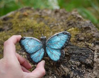 Blue Morpho Butterfly Ornament