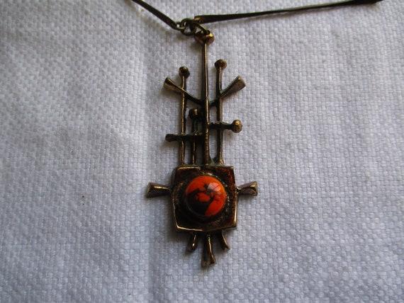JOZSEF PERI  Vintage BRUTALIST Pendant Necklace