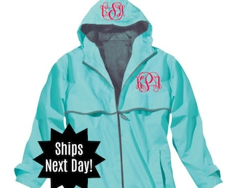Next Day Shipping Charles River Monogrammed Rain Jacket Monogrammed New Englander Jacket Monogrammed Rain Coat Personalized Rain Jacket