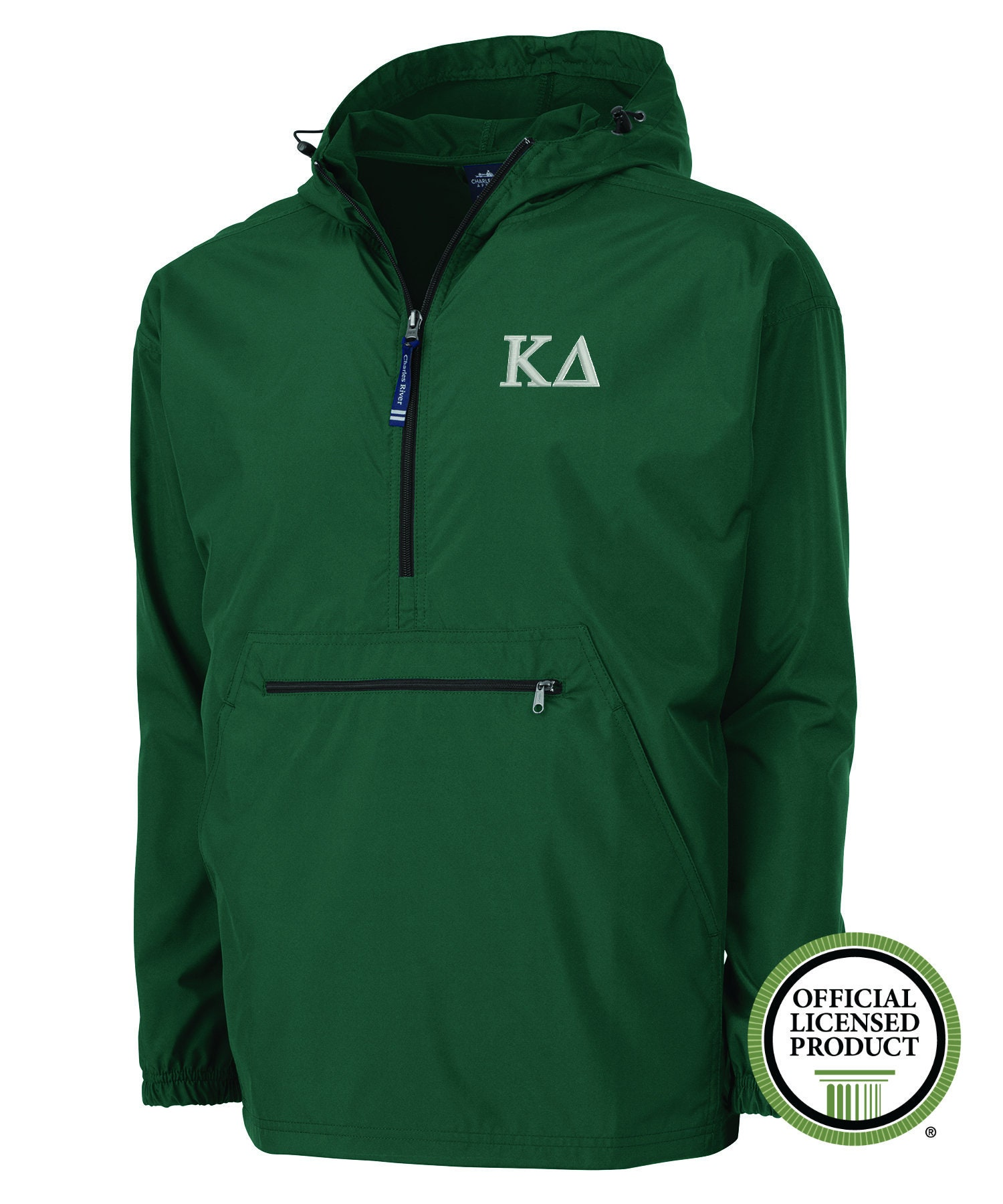 b2c28cffb Kappa Delta Charles River Rain Jacket KD Pack and Go Jacket | Etsy