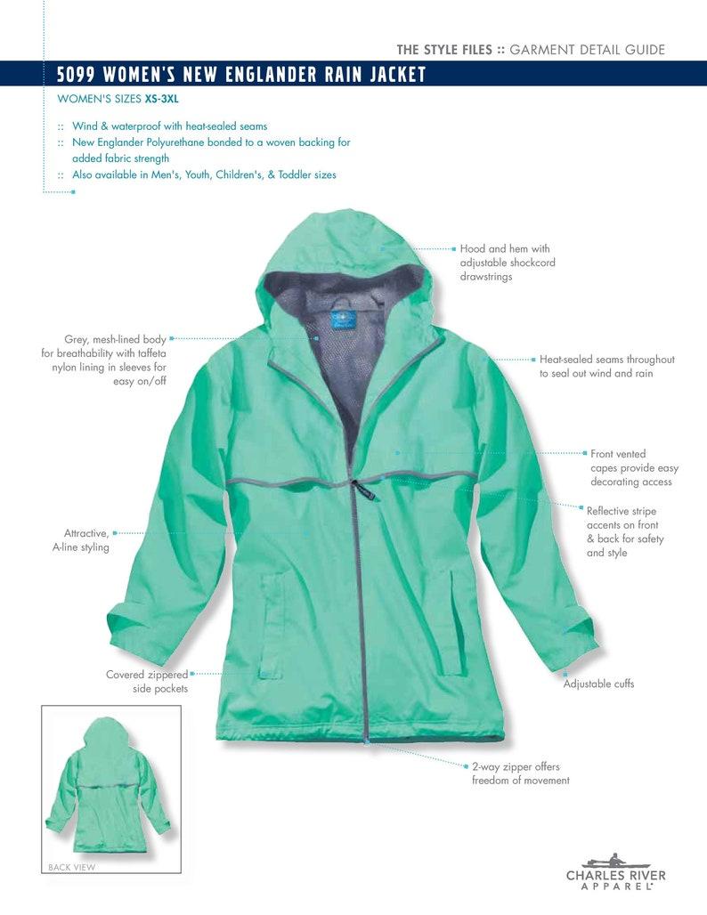 5202175a994 FREE SHIPPING Monogrammed Charles River Rain Jacket