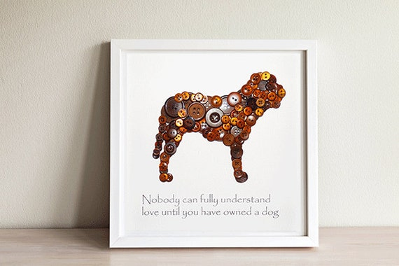 Button Dog Art ~ Dog Wall Art ~ Dog Wall Decor ~ Dog Gift ~ Pet Gift ~ Dog  Wall Art ~ Button Art ~ Dog Lover ~ Dogs Arenu0027t Our Whole Life From ...