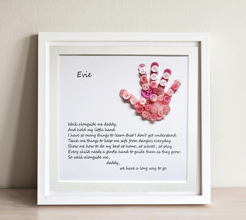 Walk With Me Daddy Dad Gift Poem About Dad Button Etsy