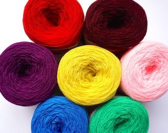 Colorful Yarn Pack Version 2, Punch Needle Yarn Pack, Omega Cryl, Acrylic Yarn, Pastel Yarn Set, Pom Pom Yarns, Tassel Yarn Variety Pack