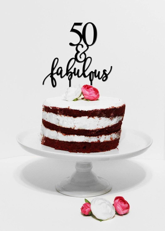 Stupendous 50 Fabulous Birthday Cake Topper Birthday Cake Topper Etsy Funny Birthday Cards Online Elaedamsfinfo
