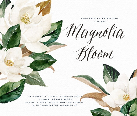 Magnolia Flower Vintage Inspired Art Gift Garden Flowers Belt Buckle