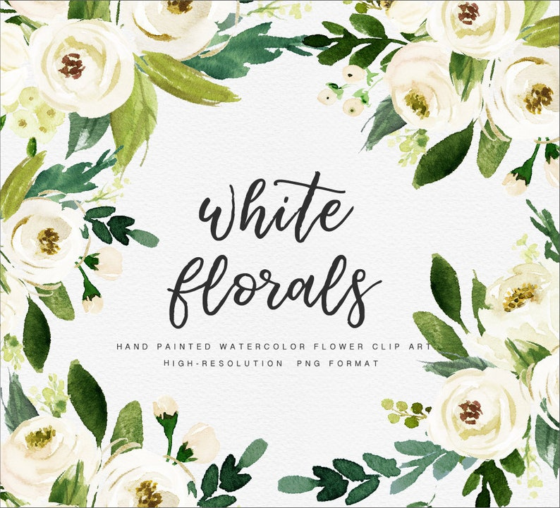 White Flower/Small Set/Individual PNG files/Hand image 0