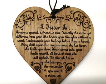 A Sister Is Stunning Gift For Wooden Plaque Xmas Birthday Present