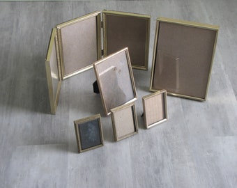 d822819164c Vintage Small Metal Photo Picture Frames - lot of six (6)