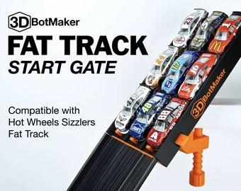Fat Track Starter | 3-Lane Start Gate for Hot Wheels Sizzler Race Track