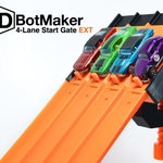 4-Lane Start Gate EXT (Compatible w/ Hot Wheels Track & 1:64 Diecast Cars)