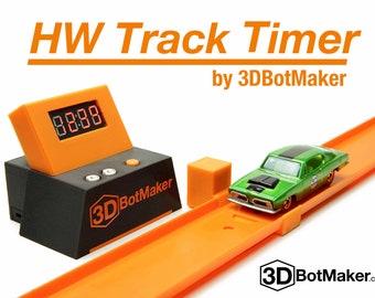 3DBotMaker HW Track Timer - 1:64 Diecast Timing System for Hot Wheels Orange Track