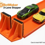2-Lane Track Stopper (For Hot Wheels Orange Track & Cars)