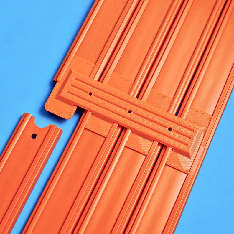 4-Lane Track Connector 6pk  Compatible with Hot Wheels image 0
