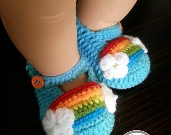 Baby Crochet Rainbow Shoes