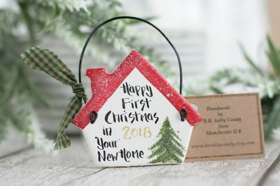 Small House New Home Christmas Gift Personalised Hanging