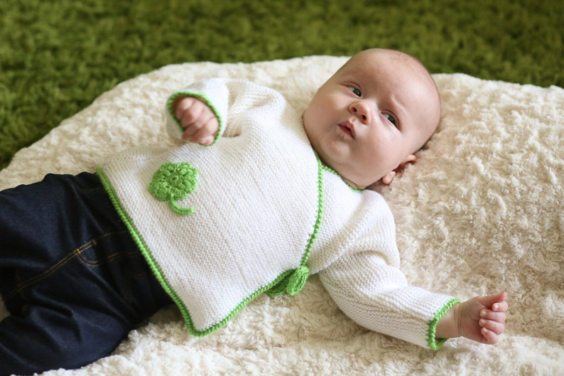 d1f23a003 MADE TO ORDER  Hand knitted kimono style baby sweater with