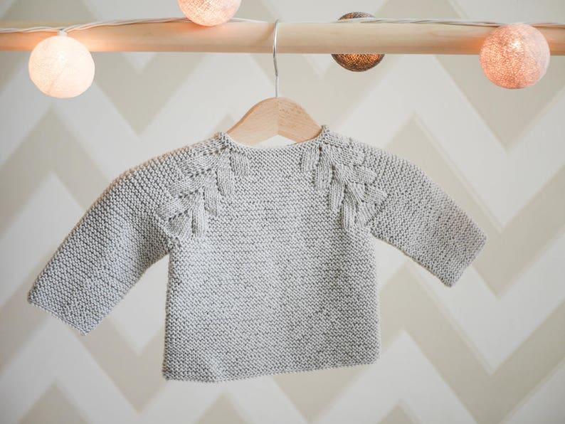 79c7534df282 MADE TO ORDER  Hand knitted baby girl sweater  Merino wool