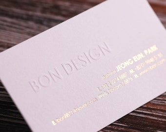 FREE Shipping : 100 Customized Business Cards by Letterpress Printing