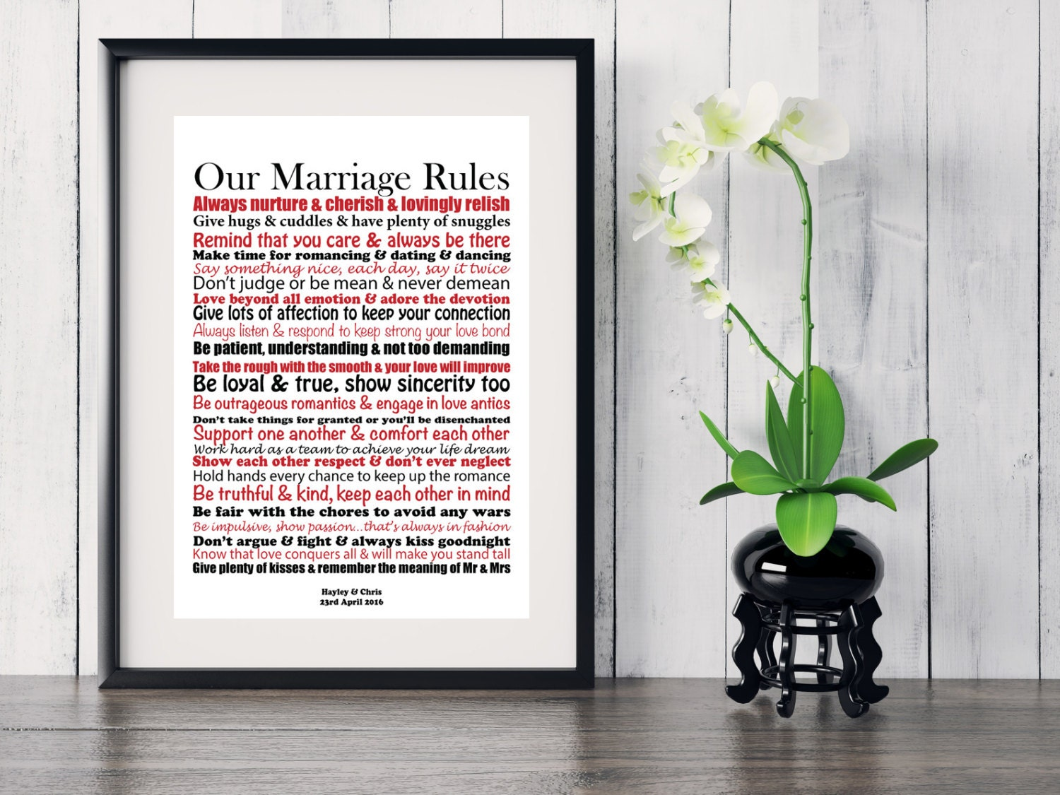 Quirky Wedding Gifts Uk: Personalised Mr & Mrs Plaque Sign Unusual Unique Wedding